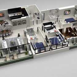 Residential 3D Floor Plan Rendering