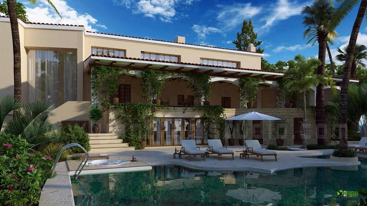 Modern Bungalow with Exterior Pool Design | yantramstudio | Foundmyself