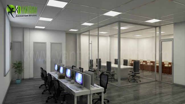3D Interior CGI Design of Commercial office