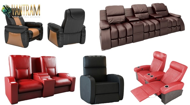 Realistic 3D Sofa Chair Modeling and Visualization Services