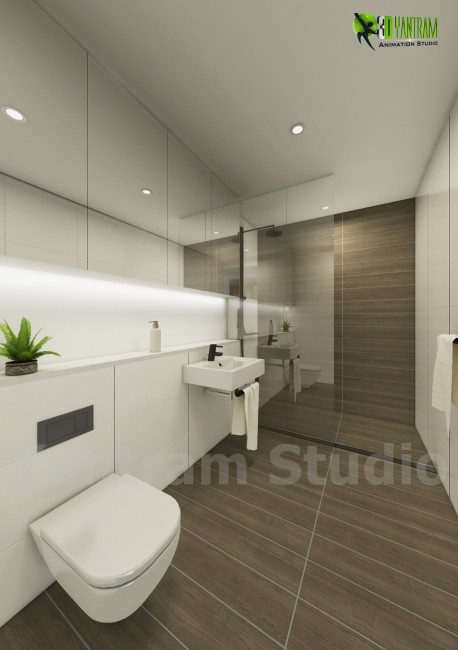 3D Interior Bathroom Design