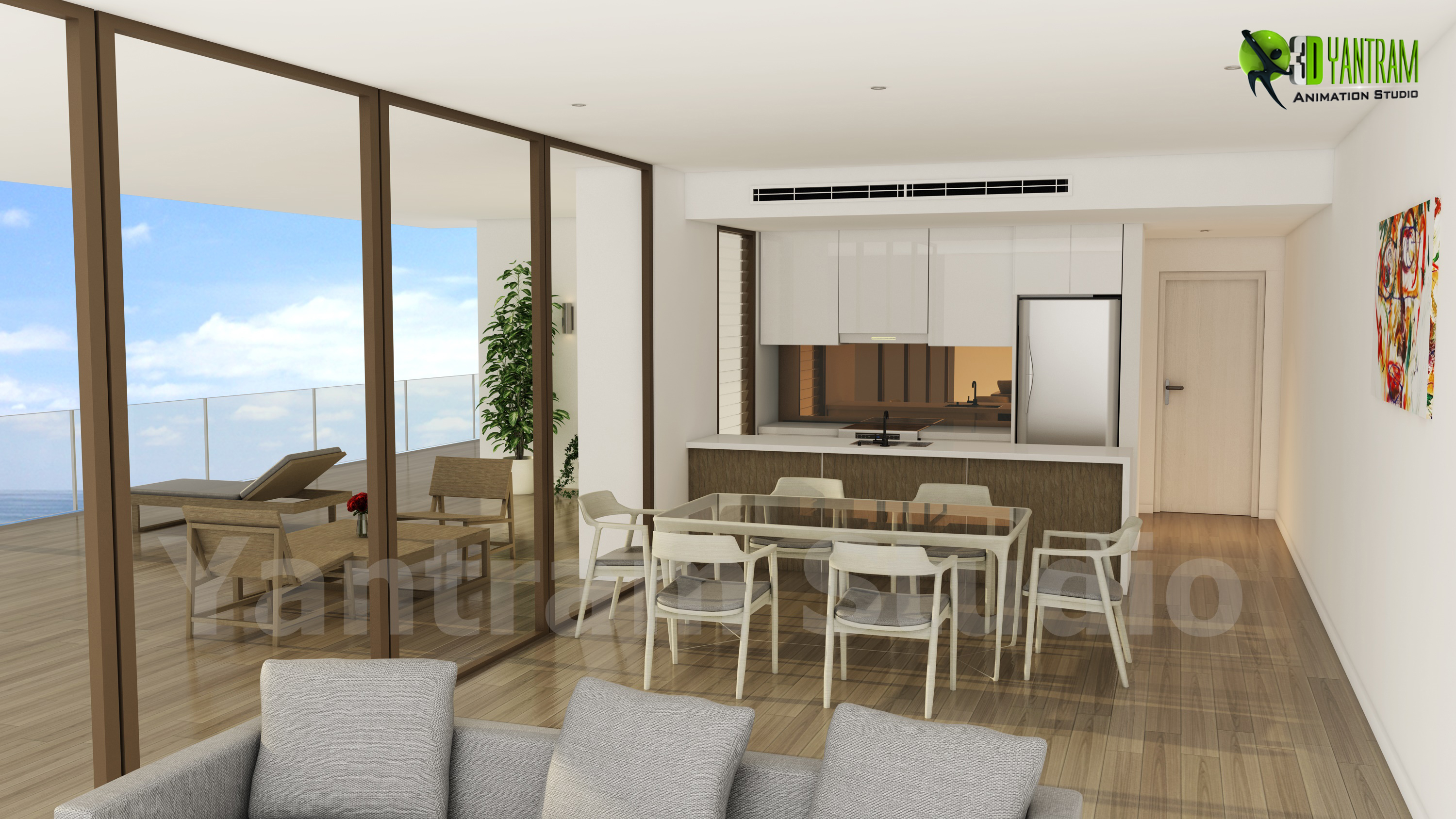 Residential 3d Interior Kitchen Design Yantramstudio Foundmyself