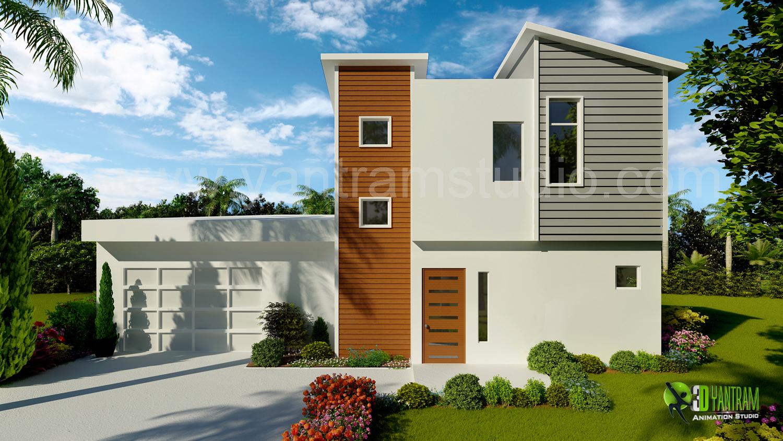 3d exterior home design rendering yantramstudio foundmyself for Exterior 3d rendering