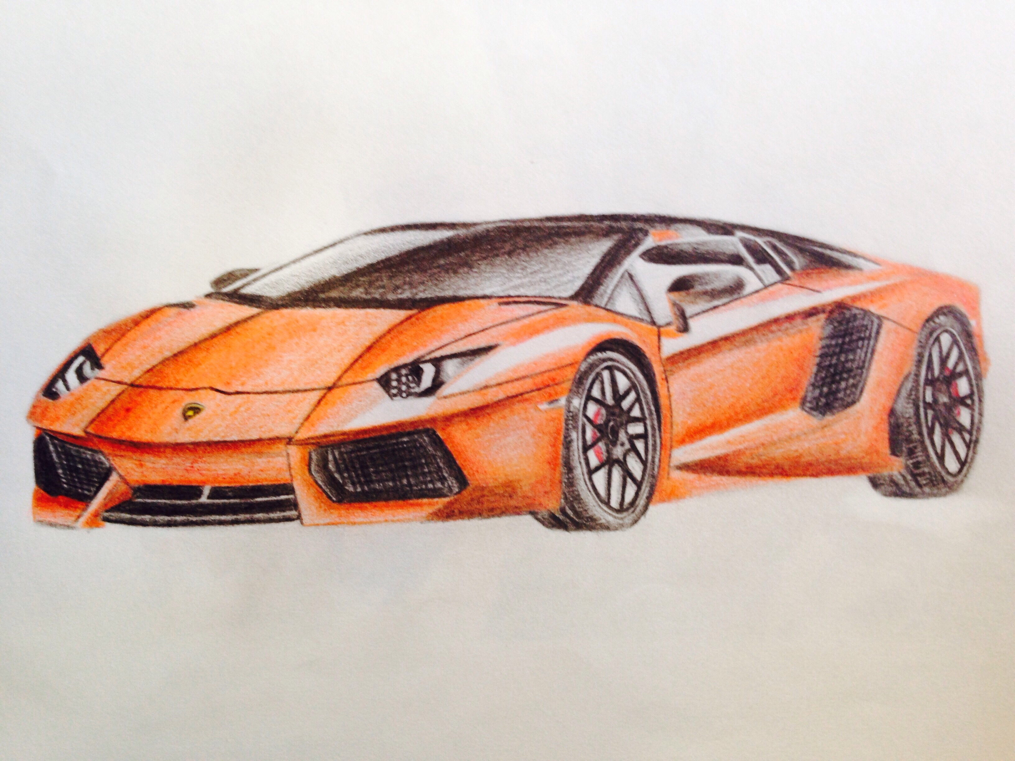 Lamborghini Car Pencil Sketch