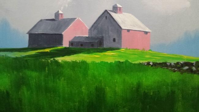 A sunlit farm