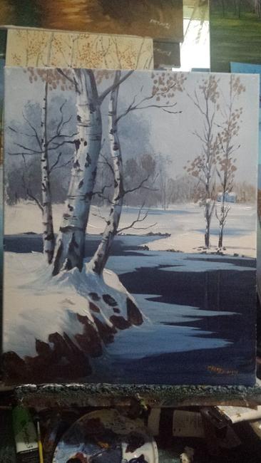 Winters pond