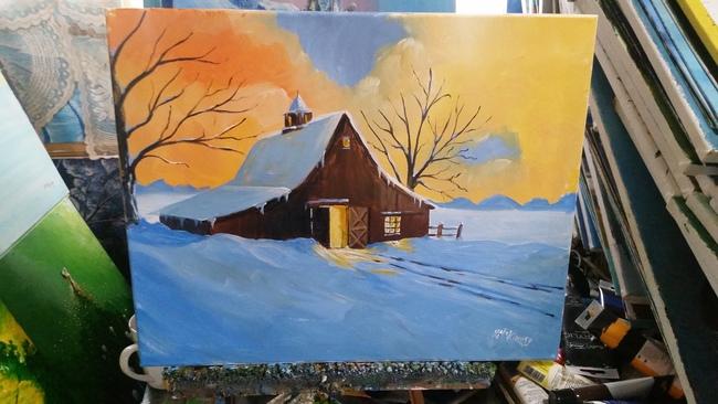 Midwestern Barn in winter