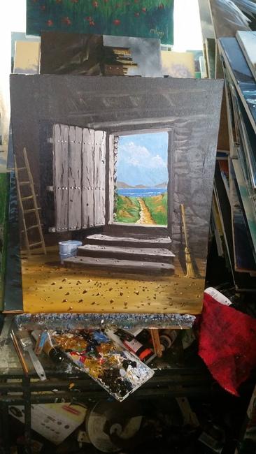 Door to the beach.