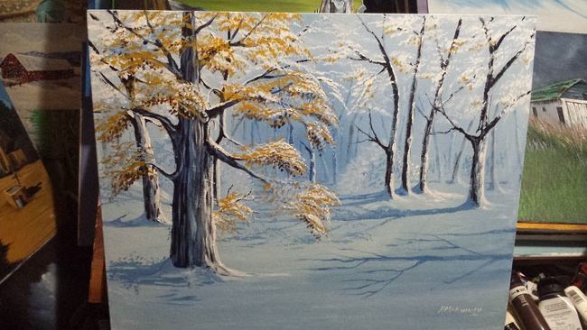 A winter tree practice.