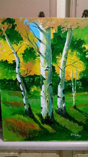 Birches in my woods.