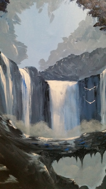 The silence of rushing water./Sold
