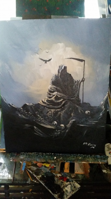 Even the Reaper rests./Sold