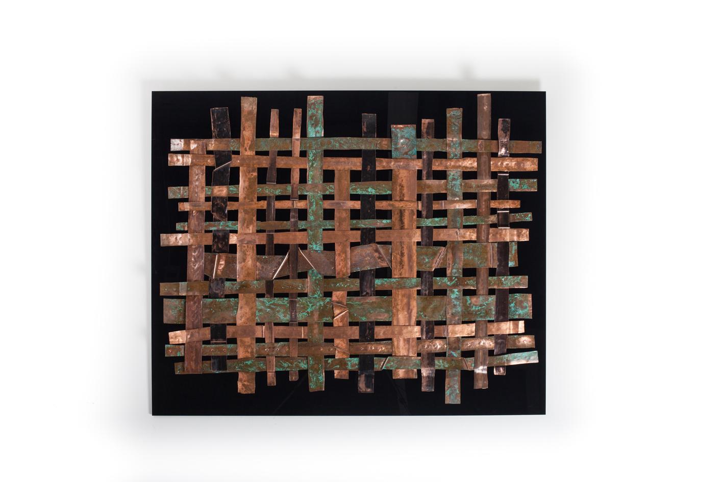 Metal Wall Art Panels copper weave metal wall art panel | wallsloveart | foundmyself