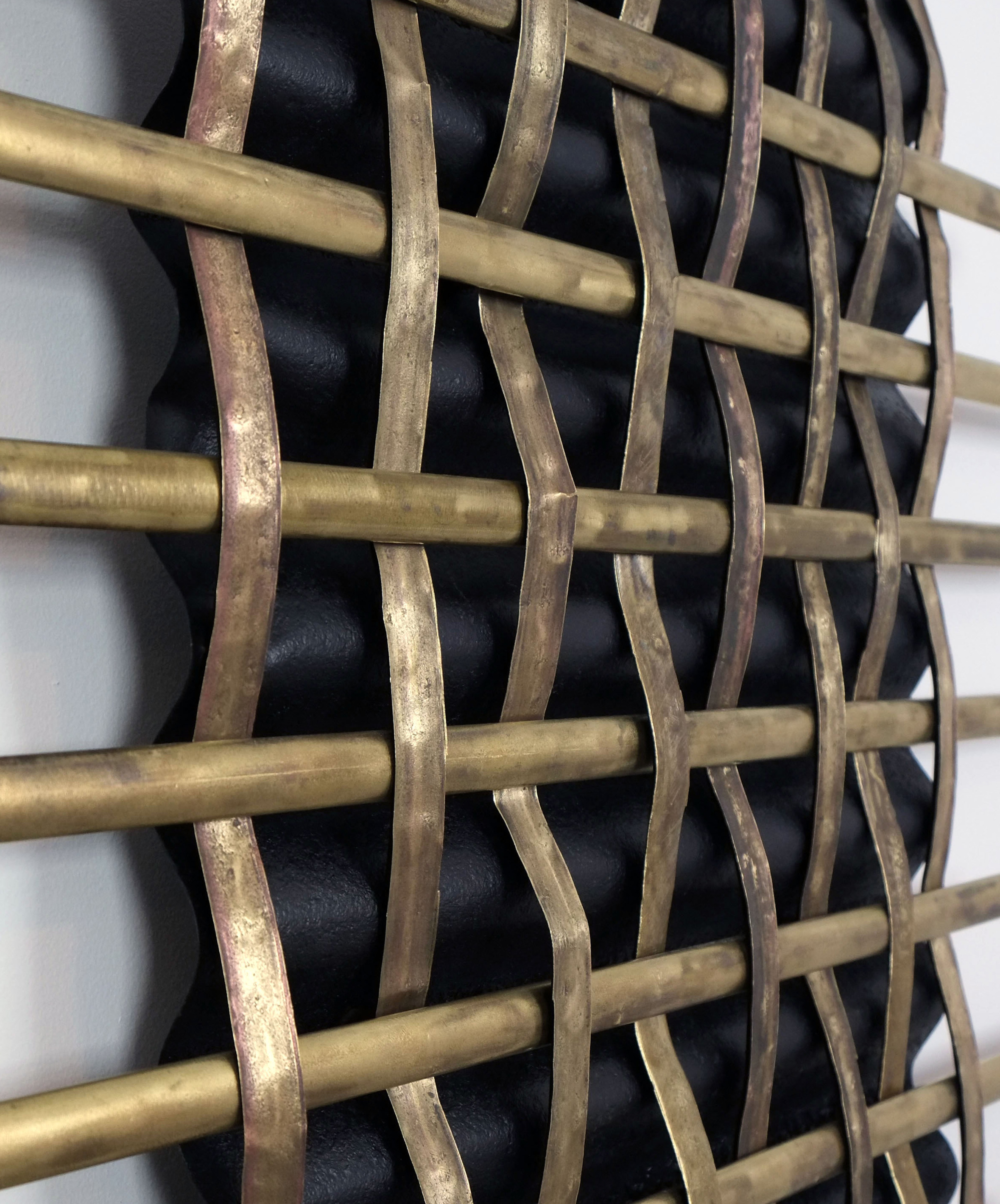 Vintage Home Decor Websites Brass Metal Woven Wall Art Panel Mounted On An Vintage