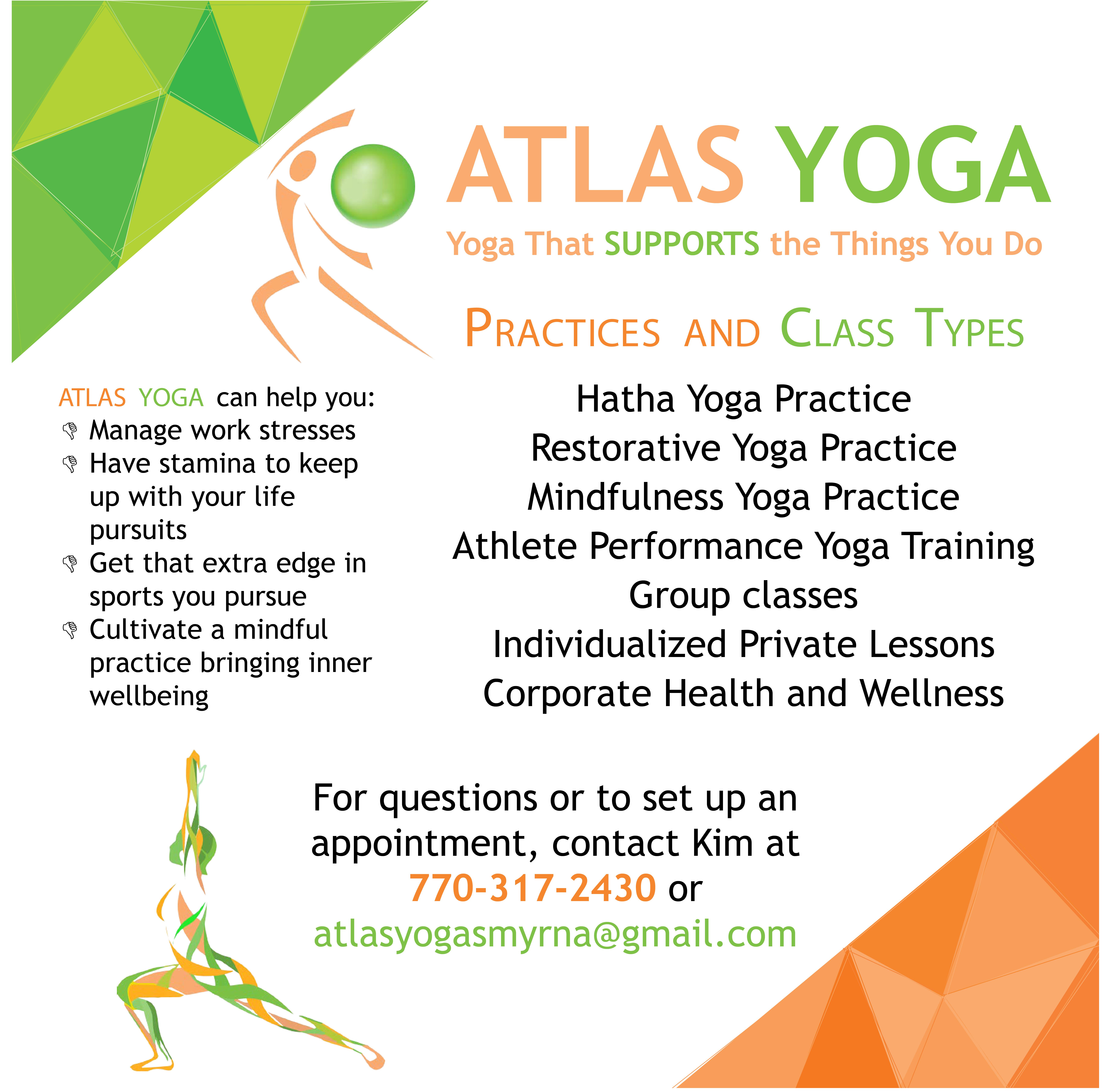 Atlas Yoga Poster