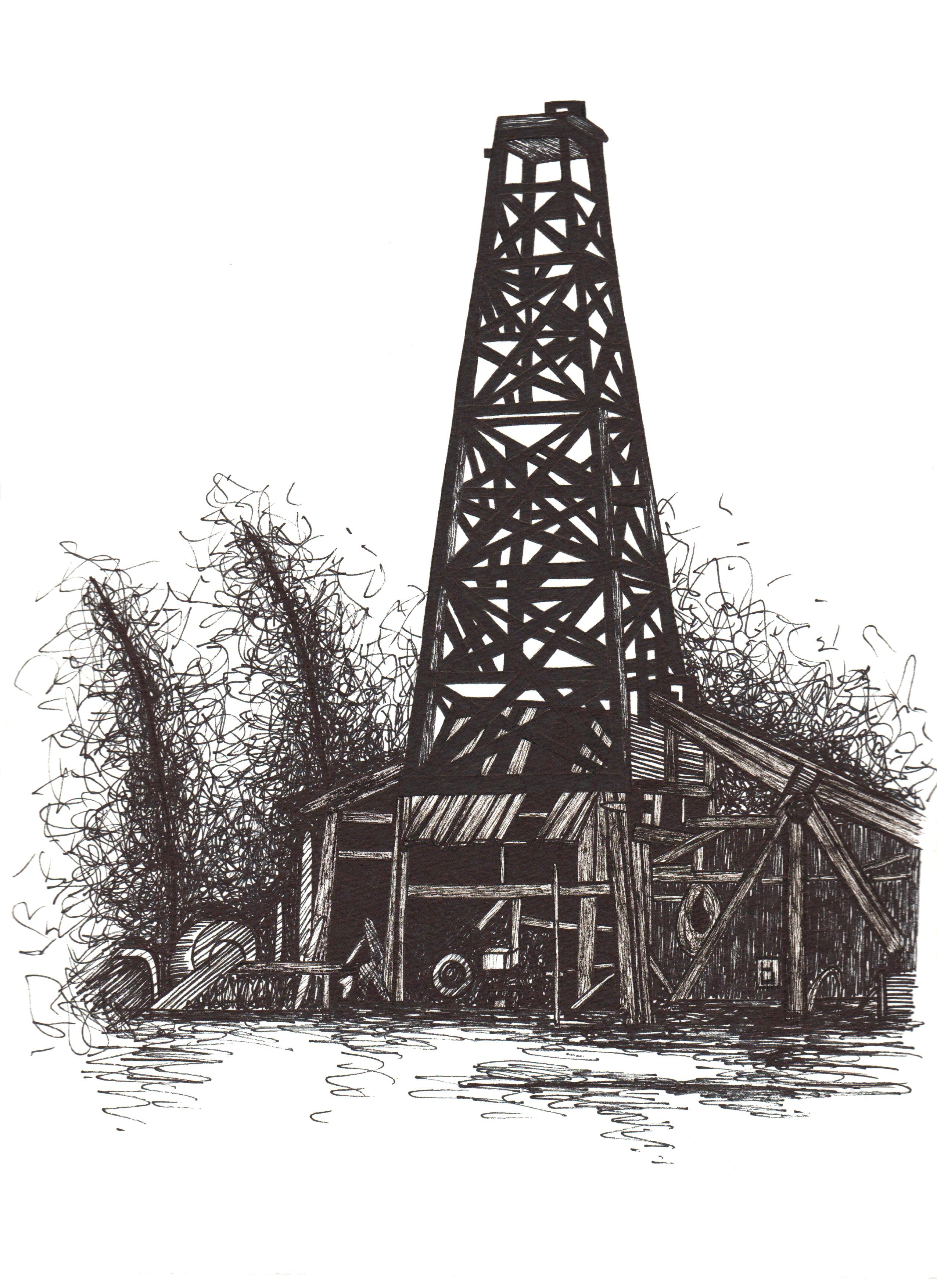 рисунки фотографии нефтяных вышек прошлых годов оформления слабосоленый