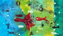 Fish abstract collage