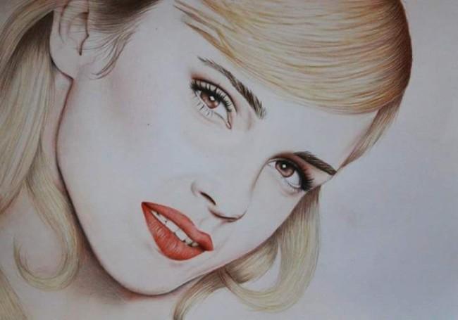 A3 drawing of Emma Watson