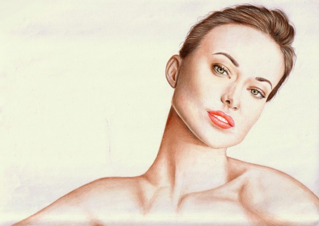 A4 drawing of Olivia Wilde