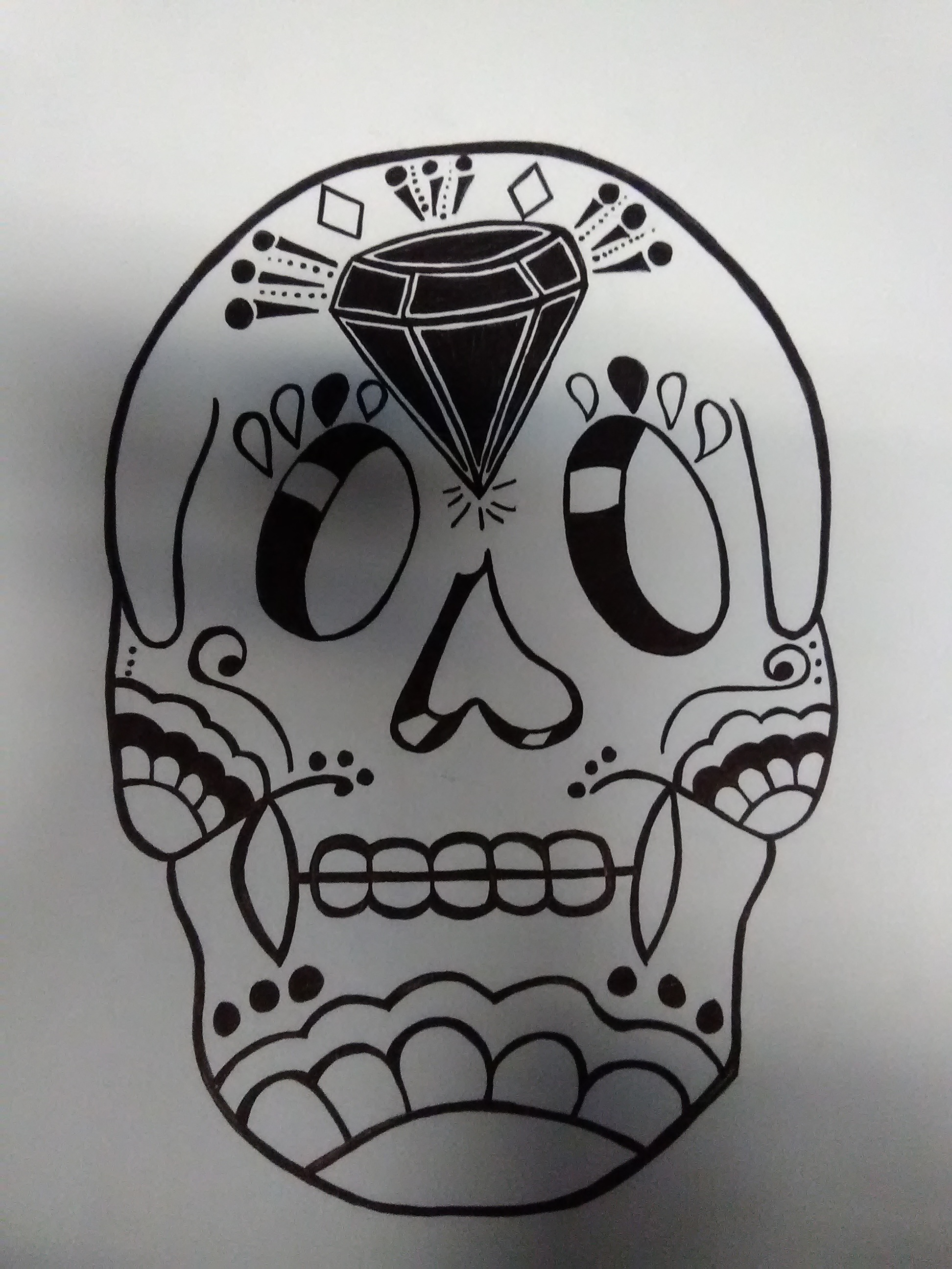 Black And White Sugar Skull Tricey Automatic Foundmyself