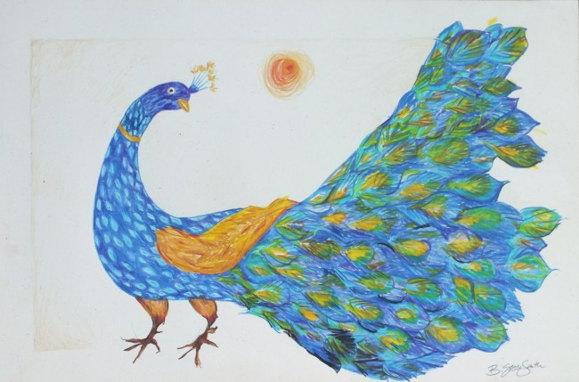 Peacock and the Sun - I
