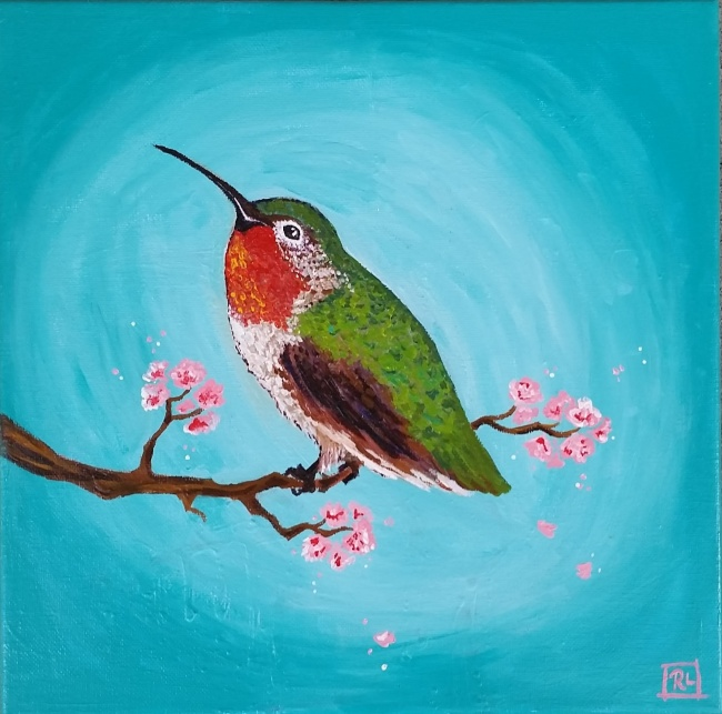 Elated Anna's Hummingbird
