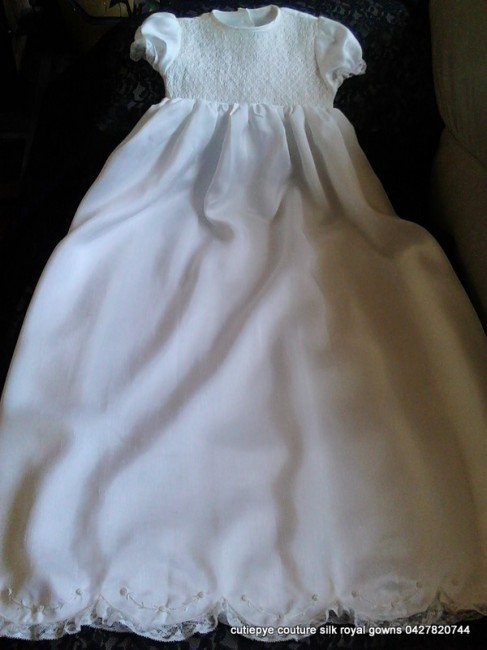 smocked christening wear couture silk 0427820744