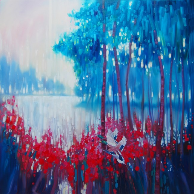 Kings of September - a large expressionist landscape with la