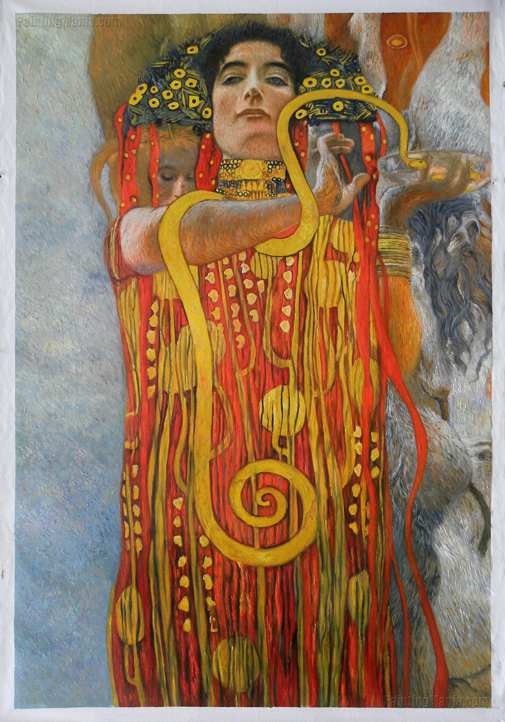 hygeia detail from quotmedicinequot gustav klimt oil painting