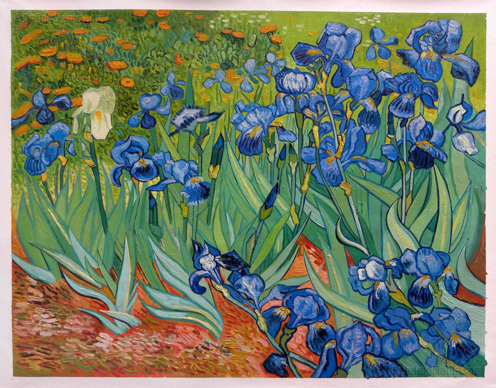 Irises Getty Vincent Van Gogh Hand Painted Oil