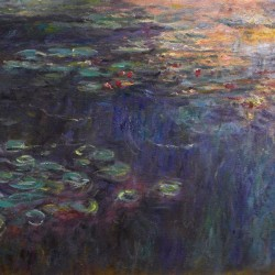 Reflections of Clouds on the Water-Lily Pond (left panel)
