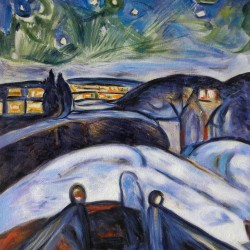 Starry Night-Edvard Munch high quality hand-painted painting
