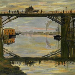 The Wooden Bridge - Claude Monet hand-painted oil painting