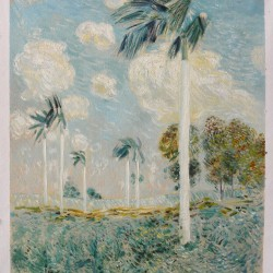Royal Palms, Melena,Cuba-Childe Hassam oil painting replica