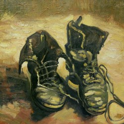 A Pair of Shoes - Vincent van Gogh oil painting reproduction