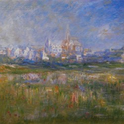 Vetheuil in the Fog - Claude Monet hand-painted oil painting