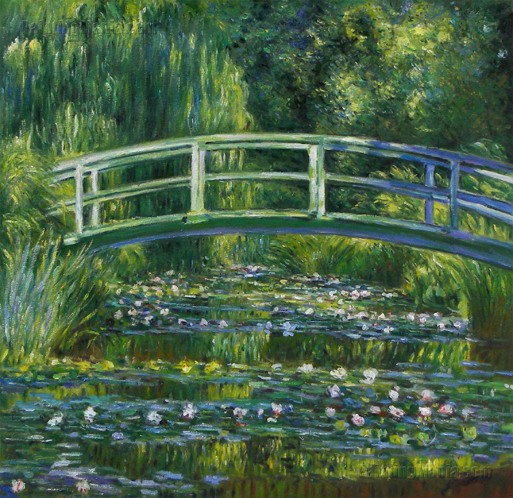 bridge over a pond of water lillies claude monet The famous water lily pond inspired monet to create a colossal work composed of almost 300 paintings, over 40 of which were large format three tapestries were also woven from the nymphéas paintings, thus affirming the decorative nature of these series.