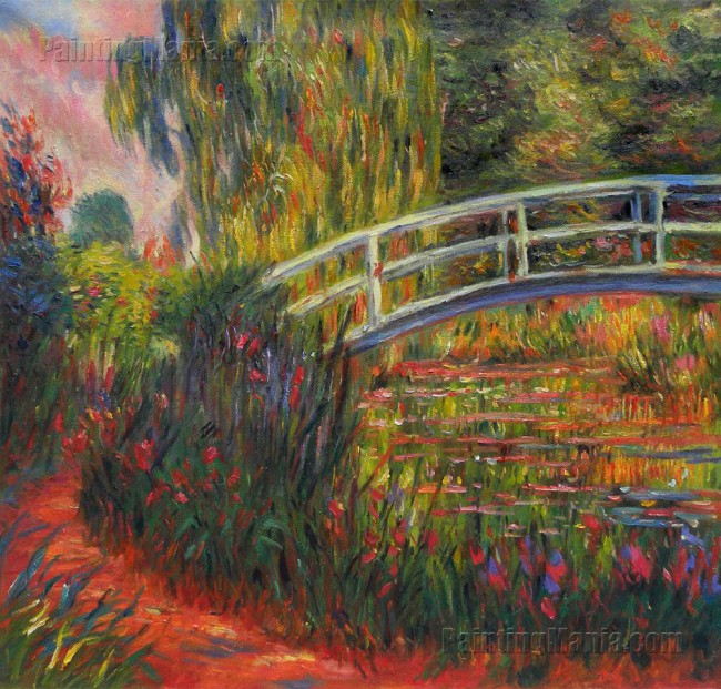 Water-Lily Pond, Water Irises - Claude Monet oil painting