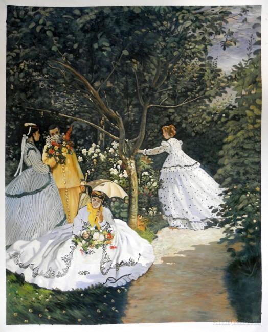 Women in the Garden - Claude Monet hand-painted oil painting