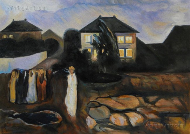 Stormy Night -Edvard Munch hand-painted oil painting replica