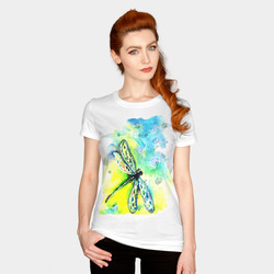 T-shirt dragonfly and sky