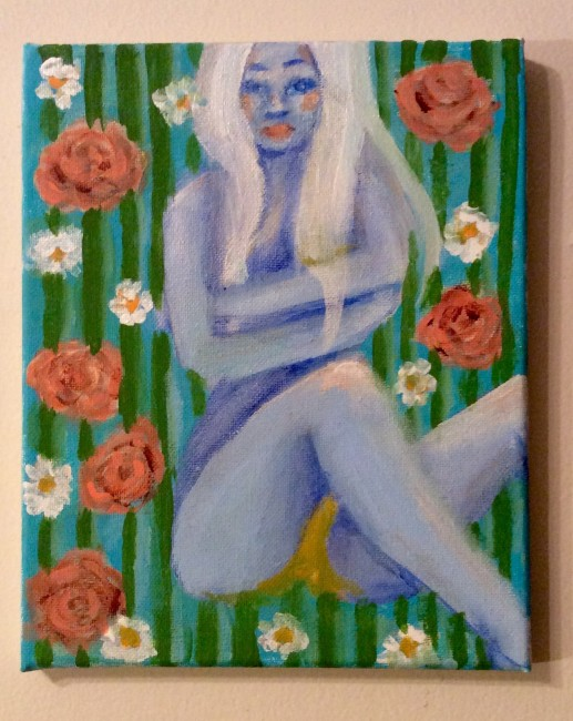 Abstract blue woman Acrylic Painting