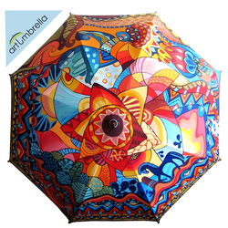 • Hand Painted colorful Umbrella • Ethnic • Horse •