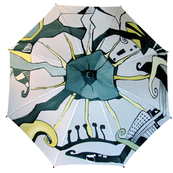 Hand Painted Umbrella - Urban style