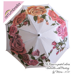 Umbrella with Painting • Hand painted • Rain Umbrella �
