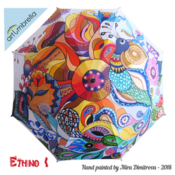 Hand Painted Umbrella - Ethnic Style