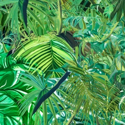 Tropical Jungle Poster Print - Digital Painting, Rainforest