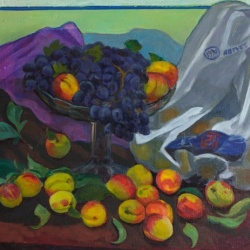 Grapes and peaches