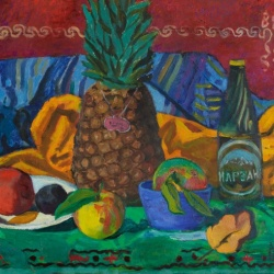Still life with a pineapple
