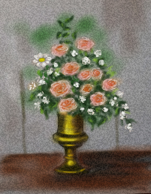 Vase with  roses-2